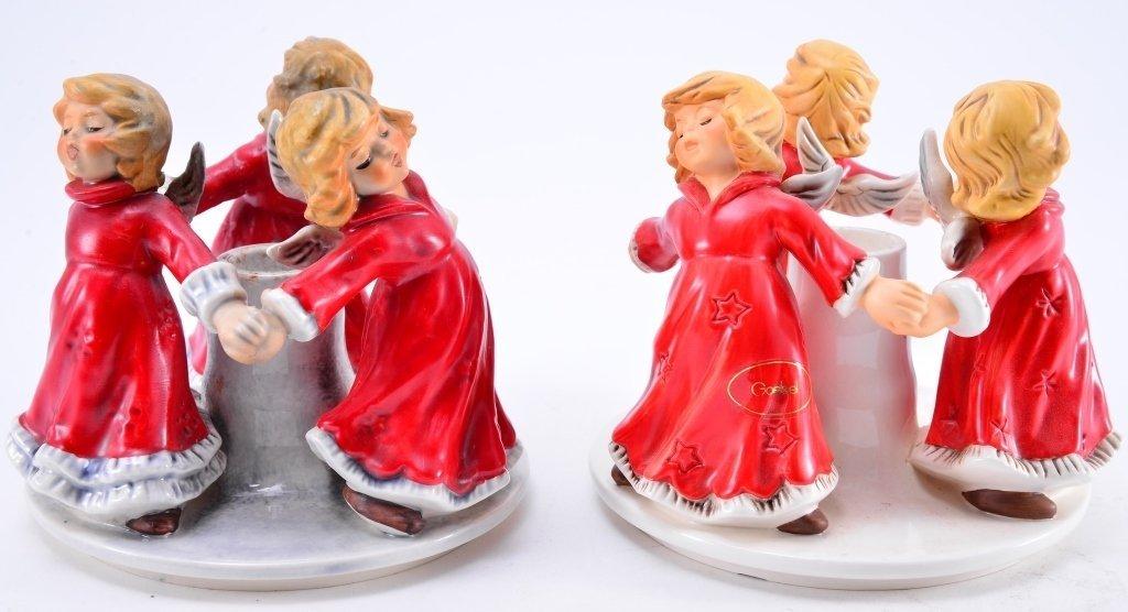 Pair Goebel Trio Angel Candleholders - 3