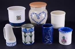 6 Ceramic Pots  Candleholder
