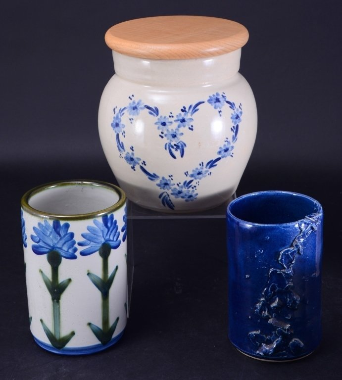 6 Ceramic Pots & Candleholder - 3