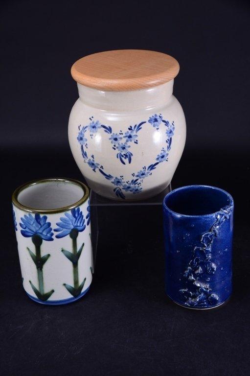 6 Ceramic Pots & Candleholder - 4