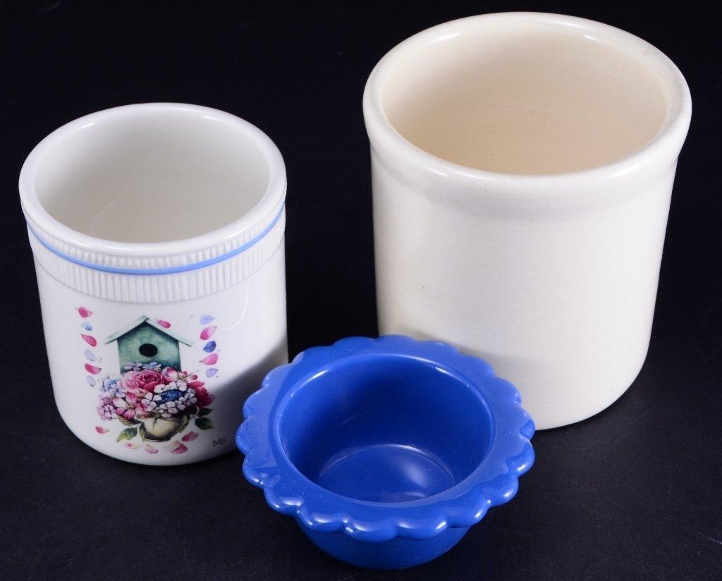 6 Ceramic Pots & Candleholder - 5