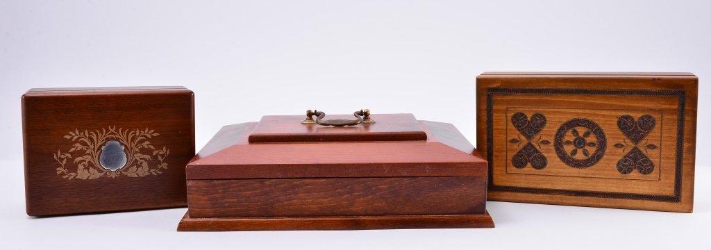3 Vintage Wooden Boxes