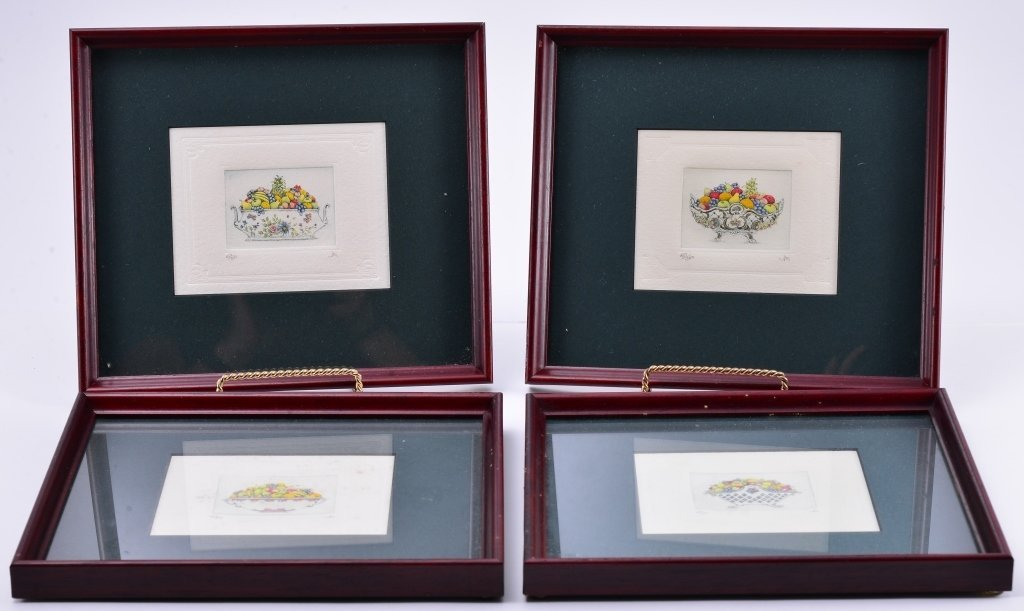 4 Framed Ltd. Ed. Etchings
