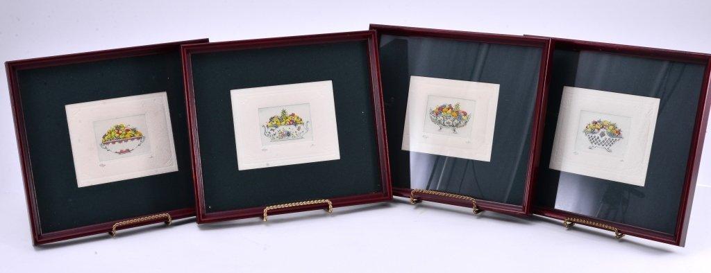 4 Framed Ltd. Ed. Etchings - 2