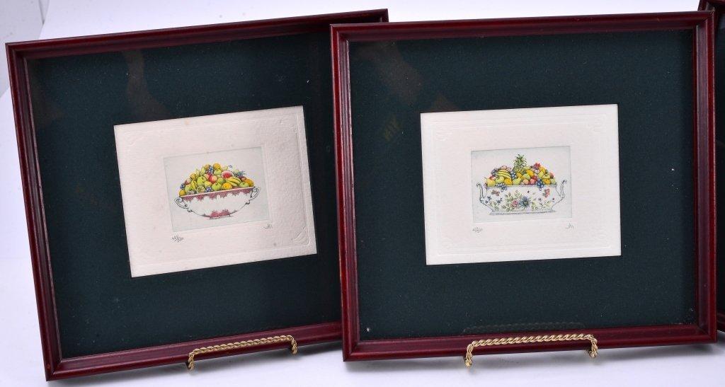 4 Framed Ltd. Ed. Etchings - 3