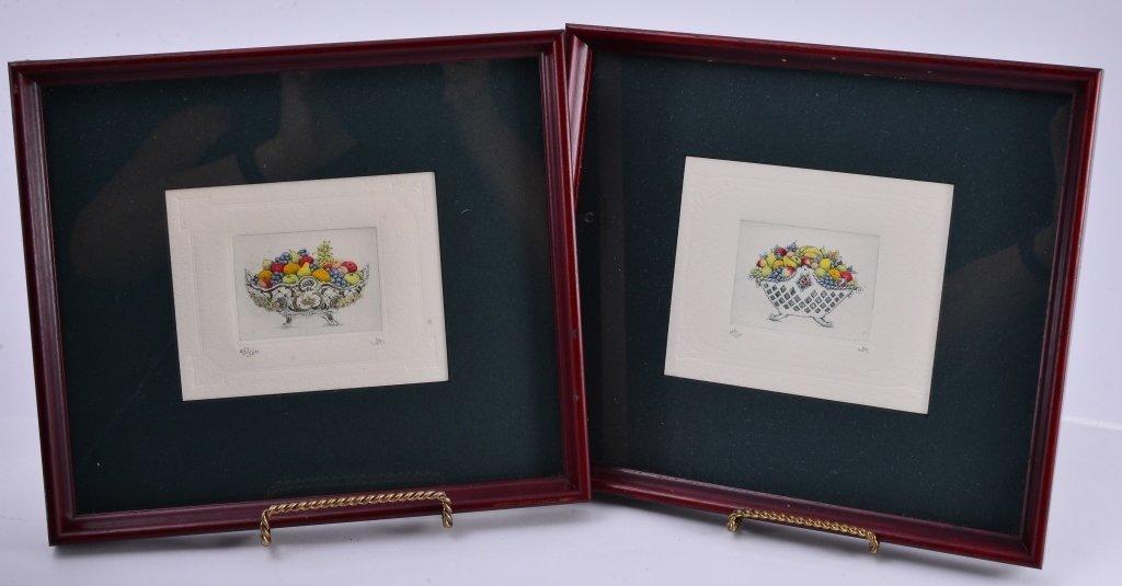 4 Framed Ltd. Ed. Etchings - 4