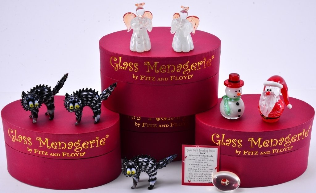 Boxed Fitz & Floyd Glass Menagerie