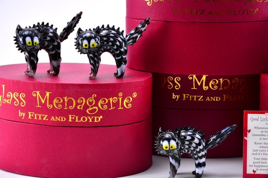Boxed Fitz & Floyd Glass Menagerie - 4