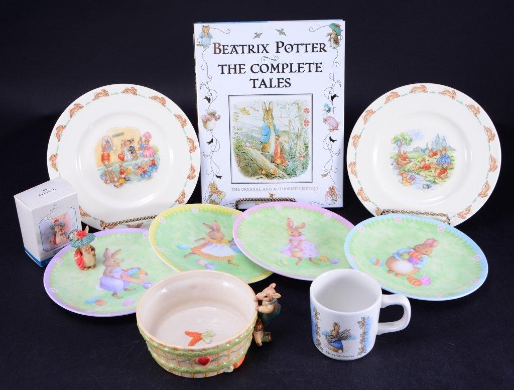 Beatrix Potter Book & Ornament Plus Ceramics
