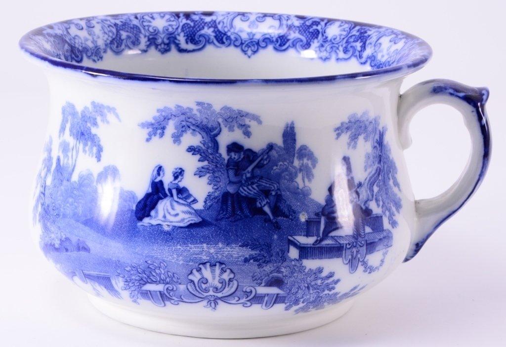 Flow Blue Chamber Pot - 4