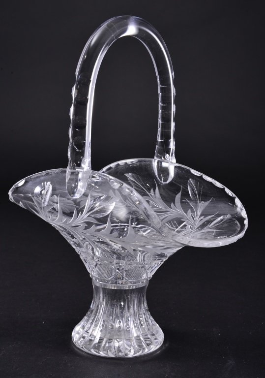 Cut & Etched Crystal Basket
