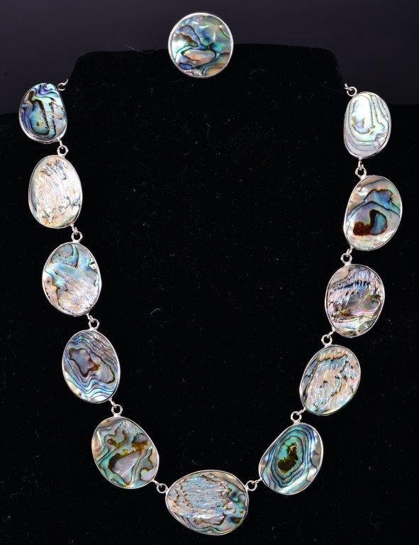 Sterling Abalone and Ring Plus - 3