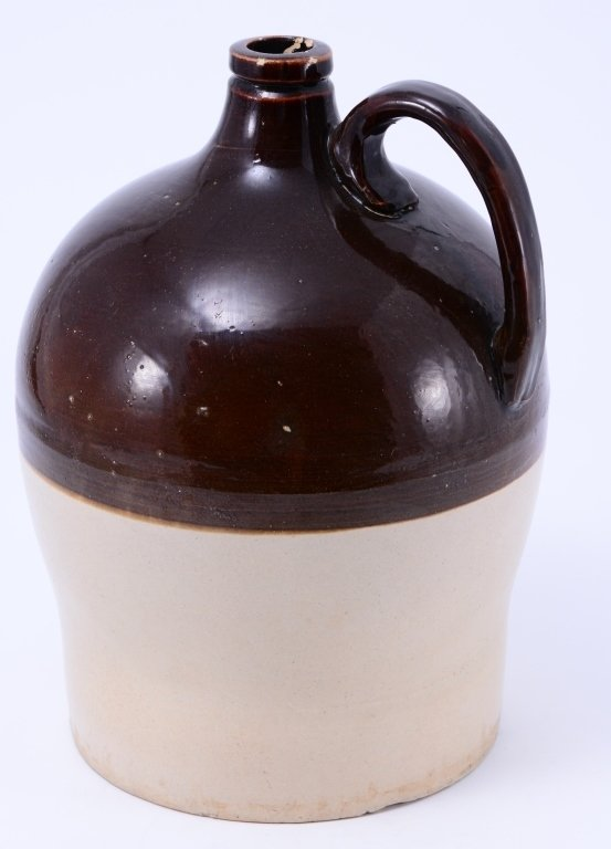 2-Tone Brown Advertising Jug