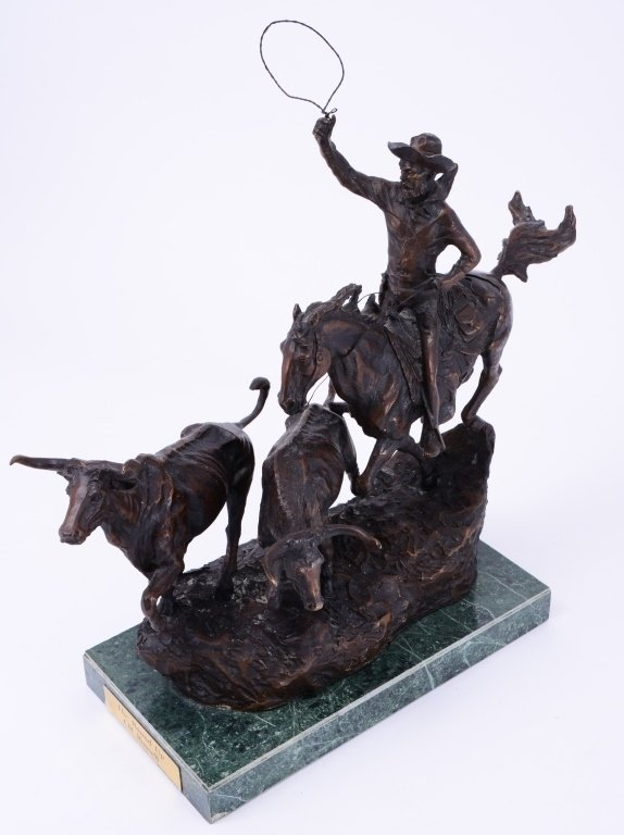 C. M. Russell The Round Up Bronze - 2