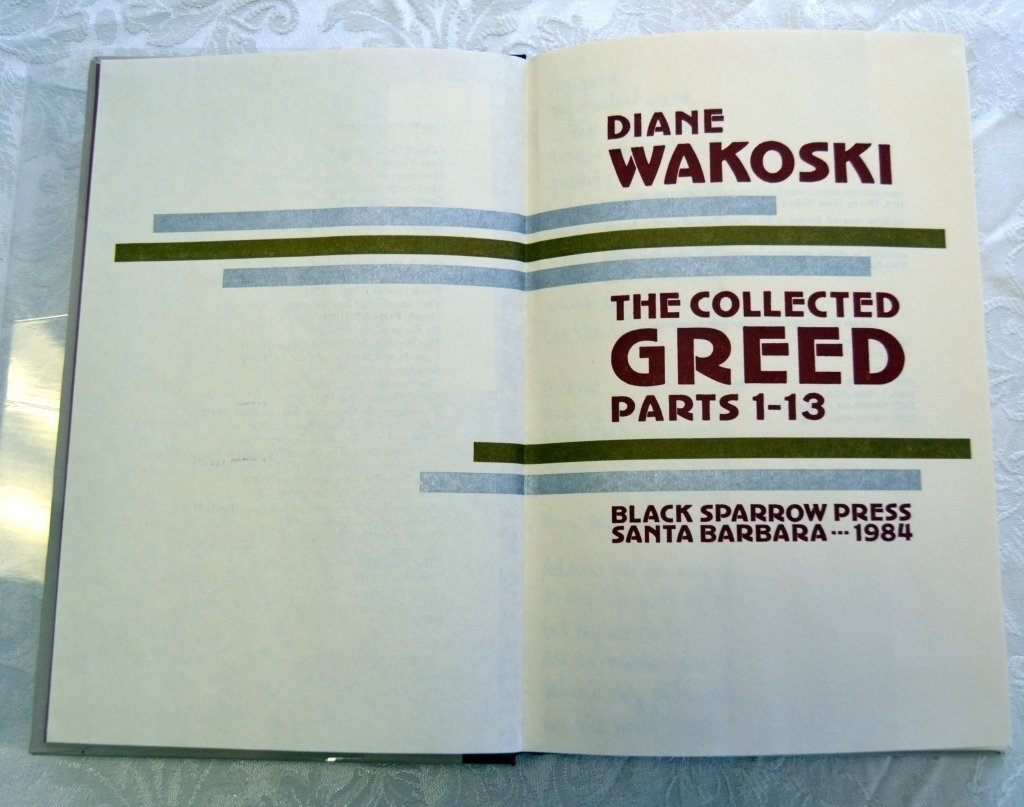 Diane Wakoski's Collected Greed Parts 1-13 - 2