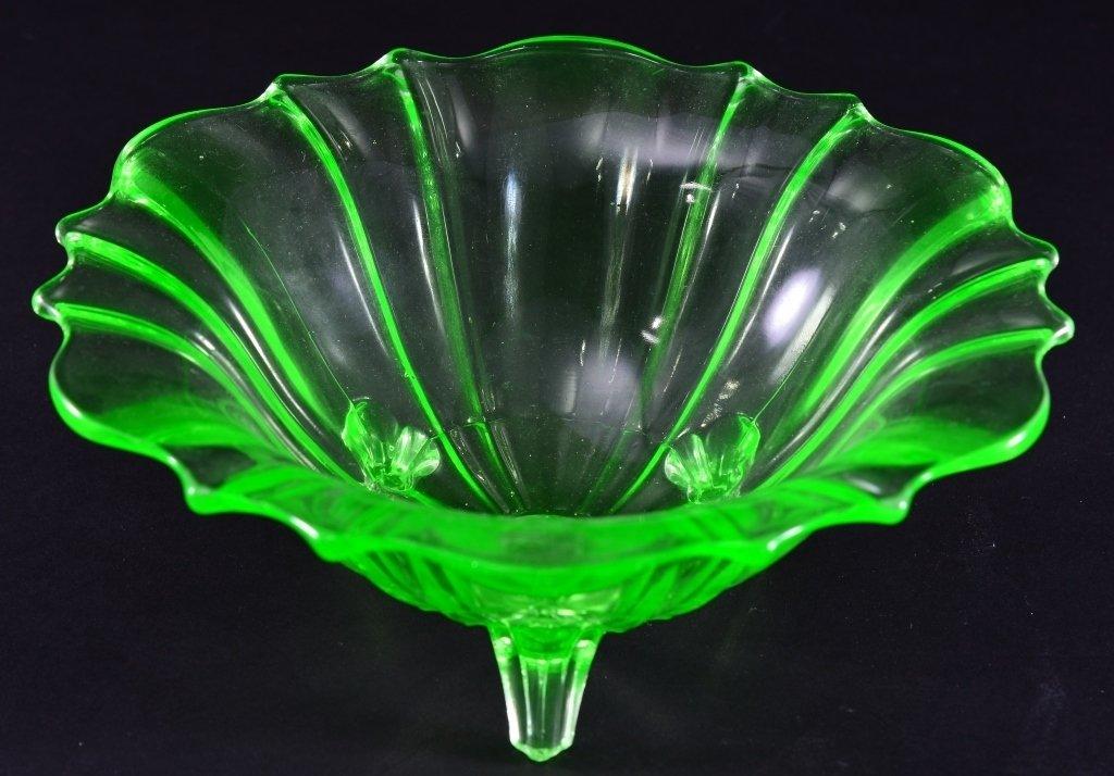 Vintage Green Glass Bowl - 2