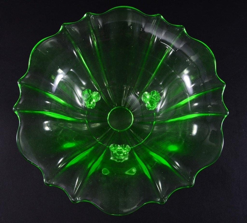 Vintage Green Glass Bowl - 3