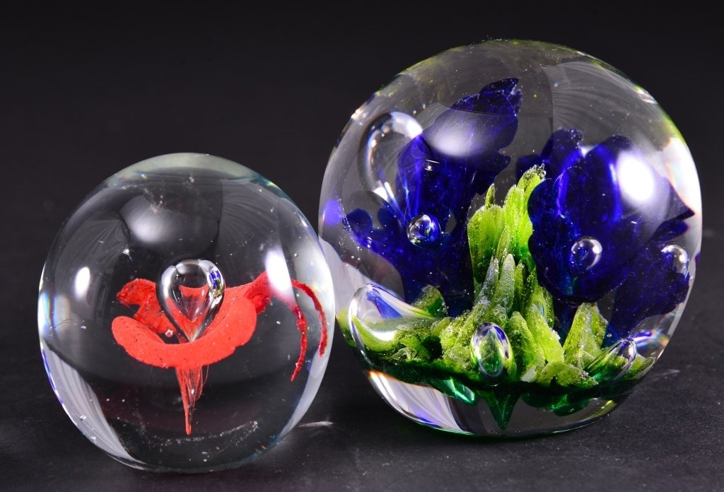 Two Collectible Paperweights