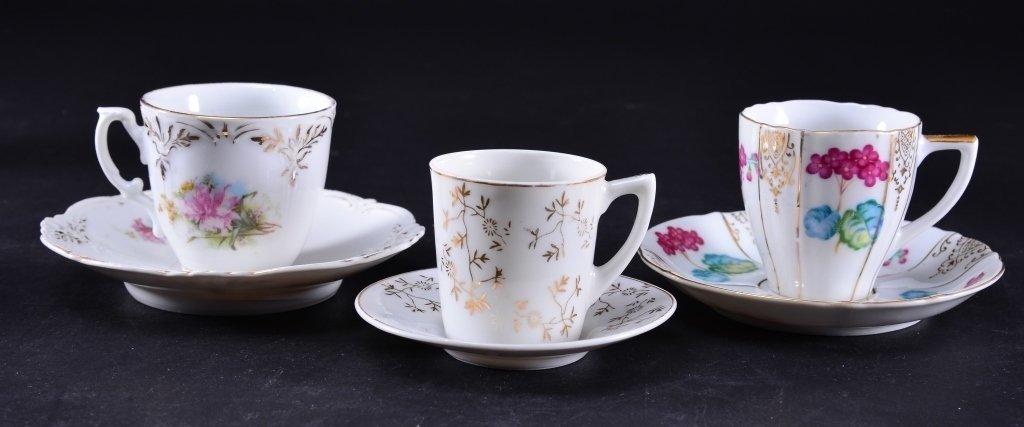 6 Demi-tasse Cups & Saucers - 2