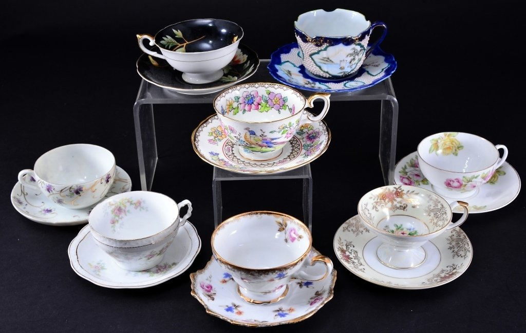 8 Collectible Porcelain Cups & Saucers