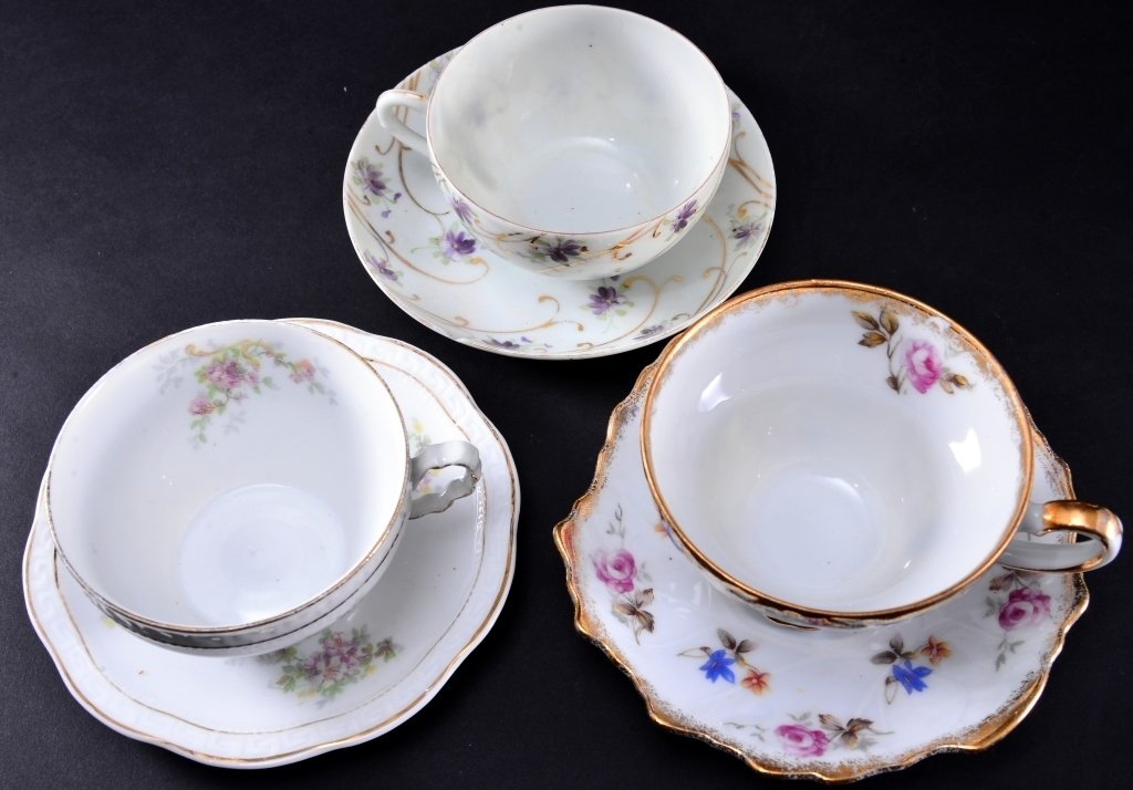 8 Collectible Porcelain Cups & Saucers - 2