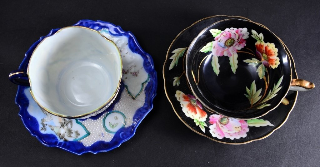 8 Collectible Porcelain Cups & Saucers - 4