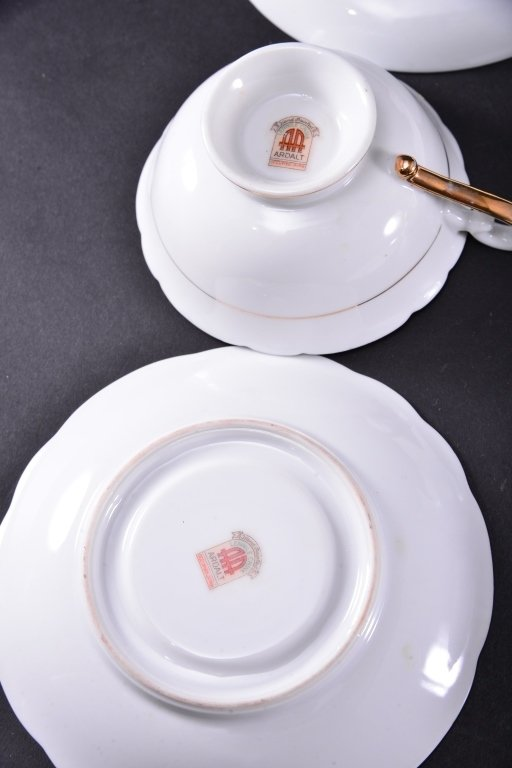 8 Collectible Porcelain Cups & Saucers - 5