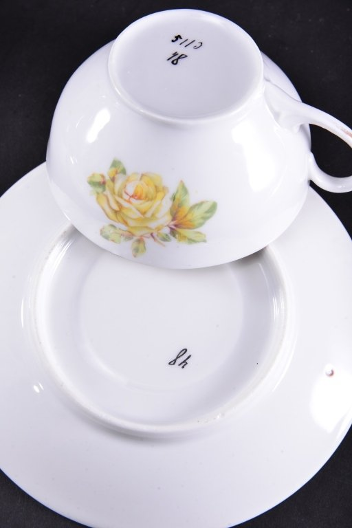 8 Collectible Porcelain Cups & Saucers - 7