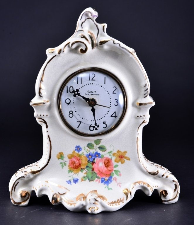 Royal Oxford China Mantle Clock