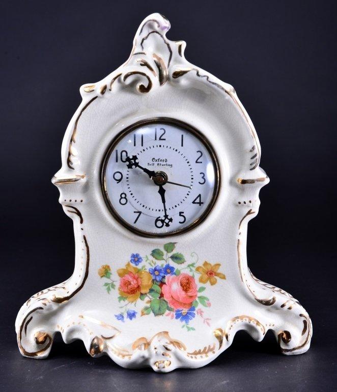 Royal Oxford China Mantle Clock