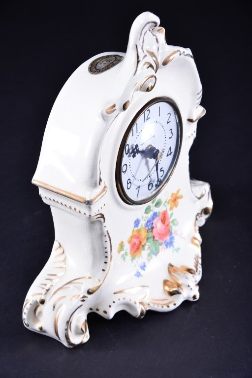 Royal Oxford China Mantle Clock - 2