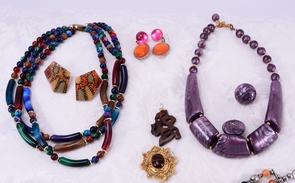 Colorful Estate Costume Jewelry - 2