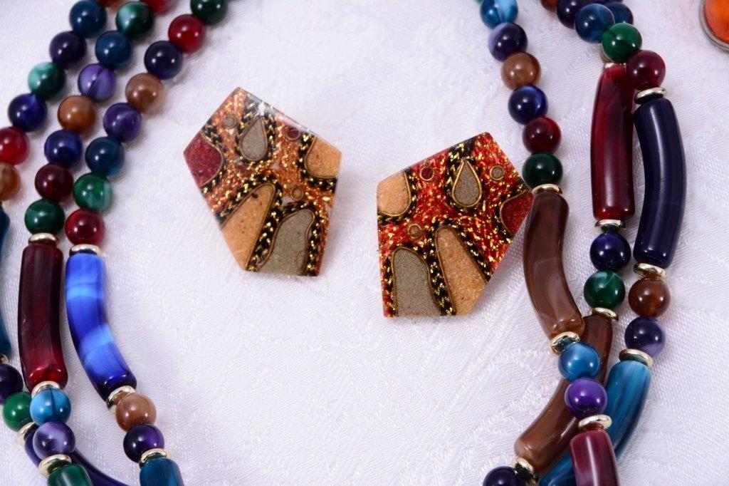 Colorful Estate Costume Jewelry - 3