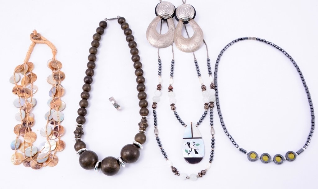 Gray and Brown Costume Jewelry