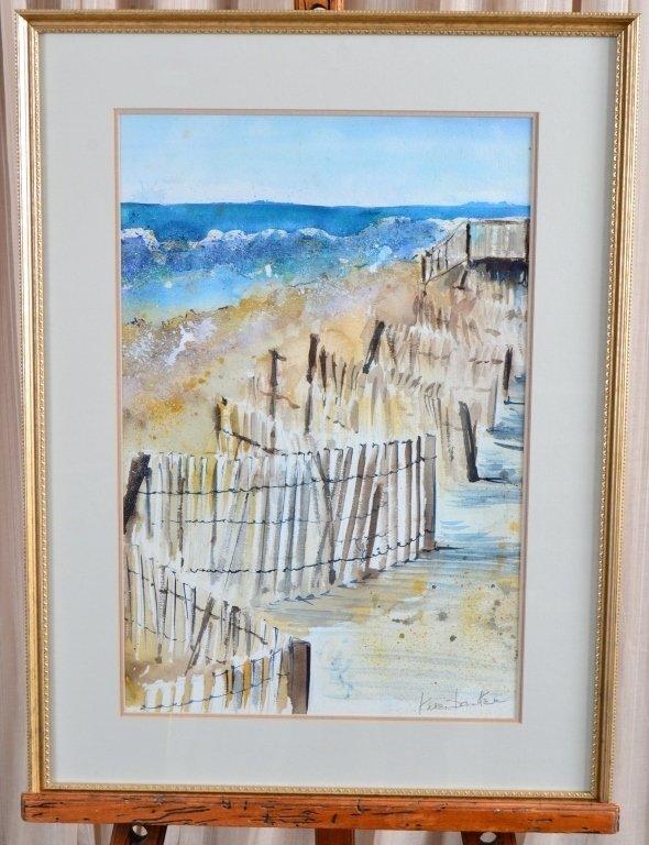 Dunes Watercolor by Karen Banker