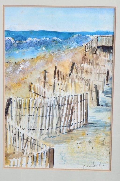 Dunes Watercolor by Karen Banker - 2