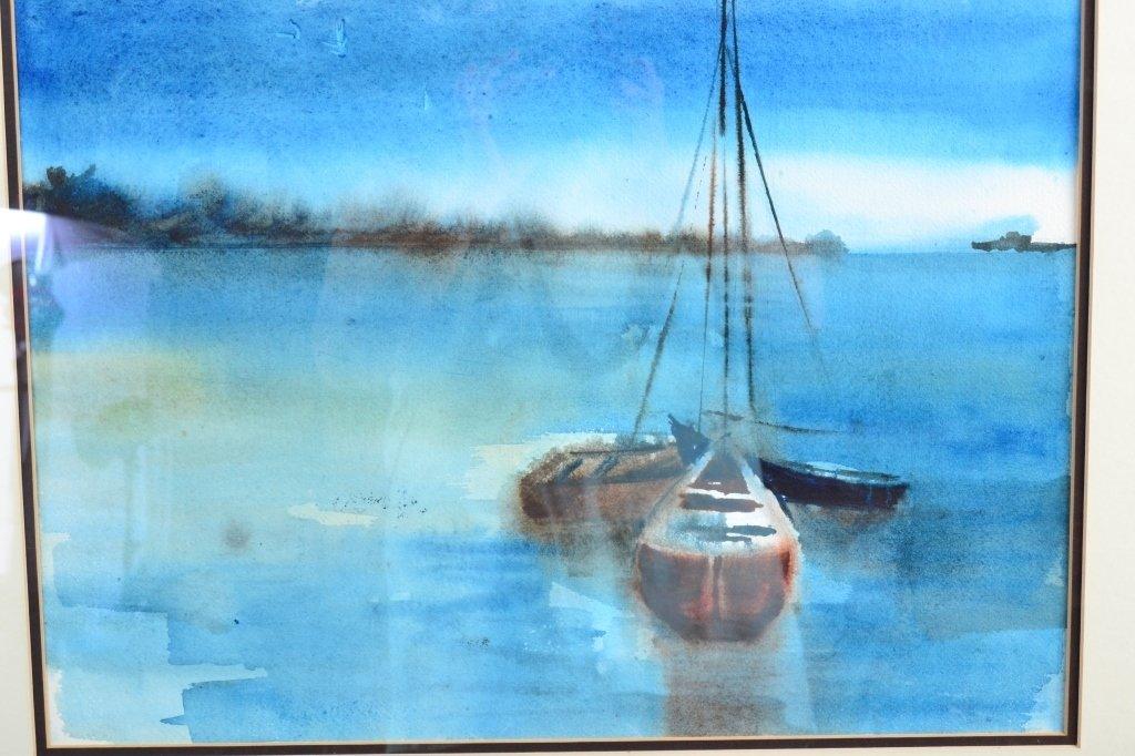 Watercolor Sailboats - 2