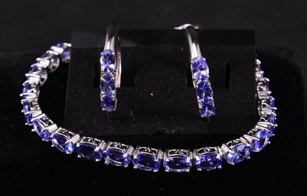 Sterling Tanzanite Bracelet & Earrings