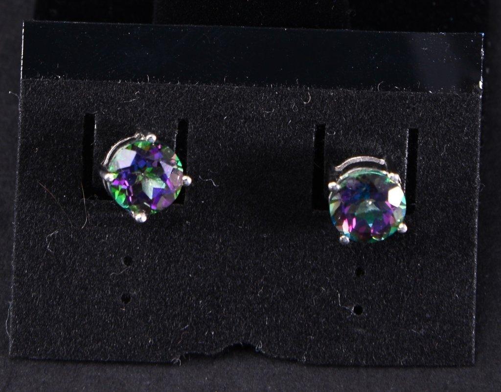 Sterling Mystic Topaz Ring & Earrings - 3