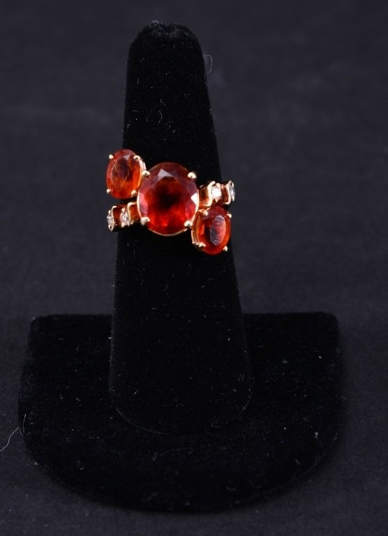 14K Citrine & Diamond Ring - 2