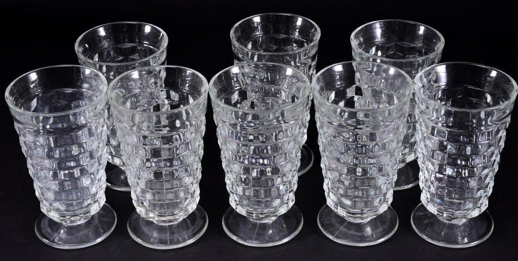 8 Indiana Whitehall Iced Tea Glasses