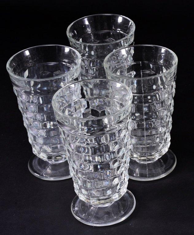 8 Indiana Whitehall Iced Tea Glasses - 2