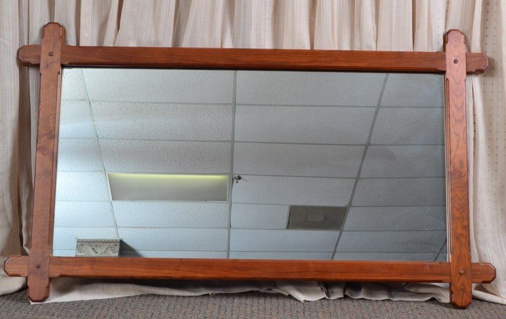 Arts & Craft Style Oak Mirror