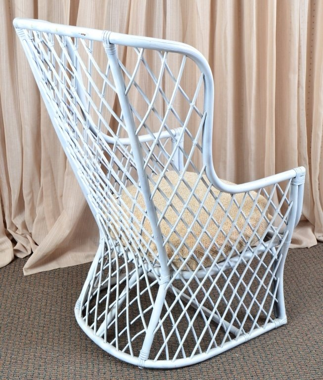 High Back Rattan Chair - 2