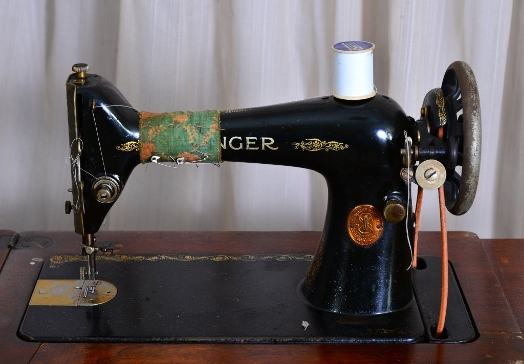Singer Sewing Cabinet & Machine - 2