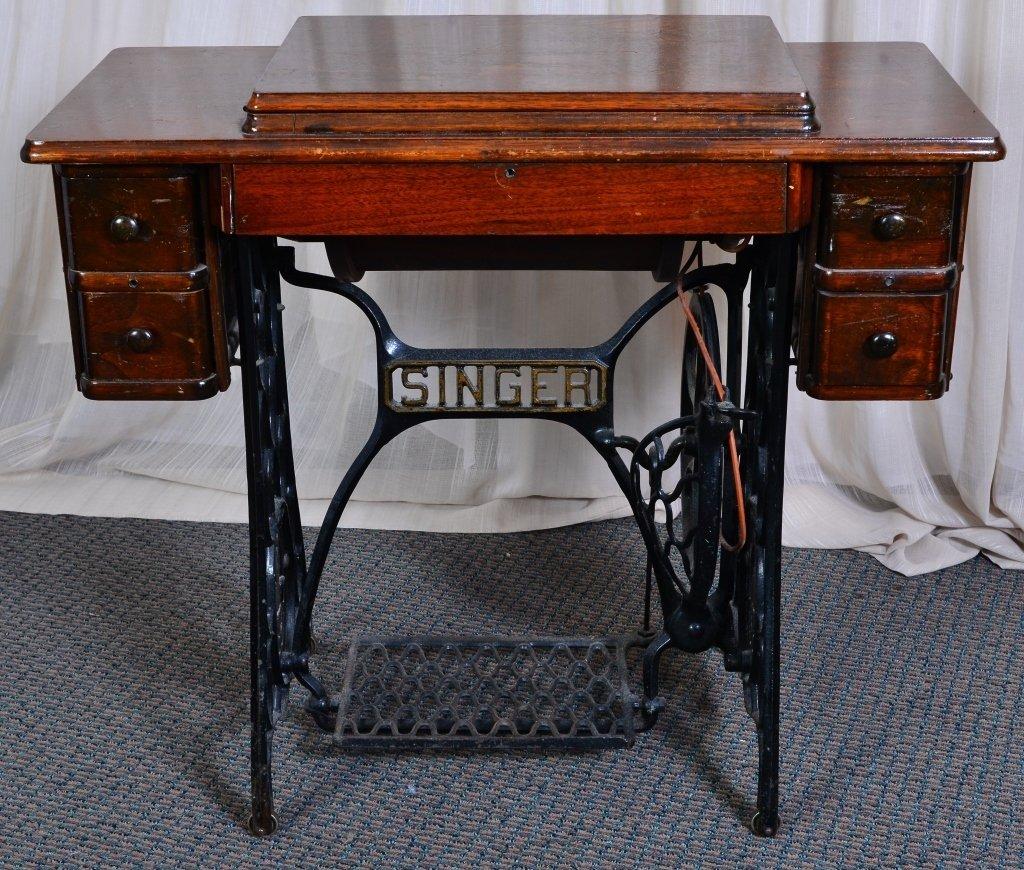 Singer Sewing Cabinet & Machine - 3