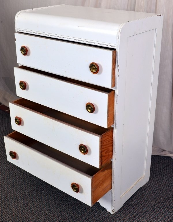 Painted Art Deco 4-Drawer Chest - 2