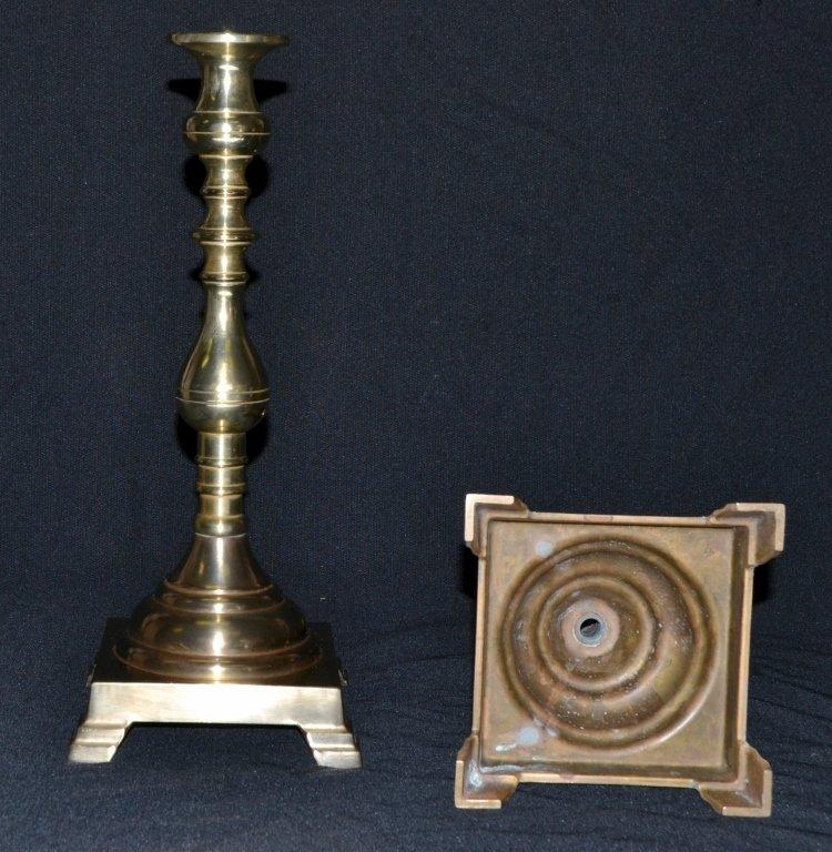 Pair Brass Candlesticks - 4