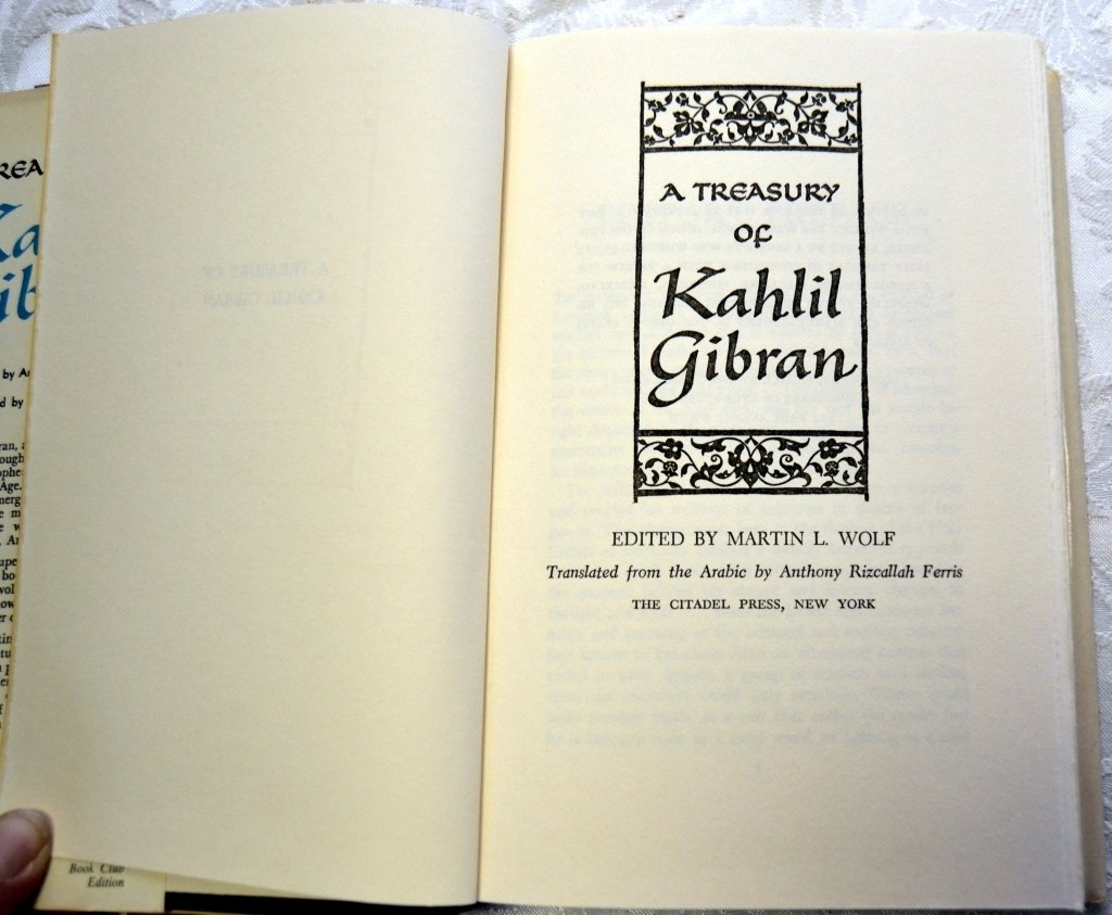 Two Treasuries & Book by Kahlil Gibran - 3