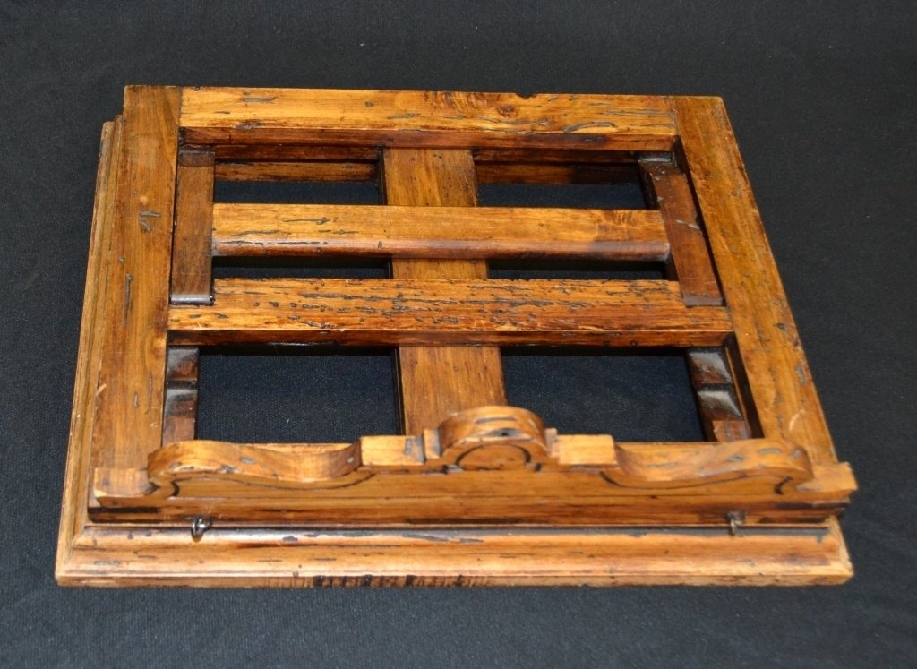 Distressed Adjustable Wood Book Stand - 4